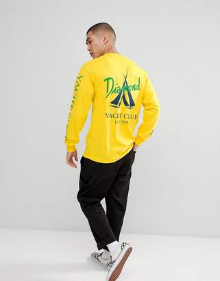 Diamond Supply Co. Voyage long sleeve t-shirt in yellow