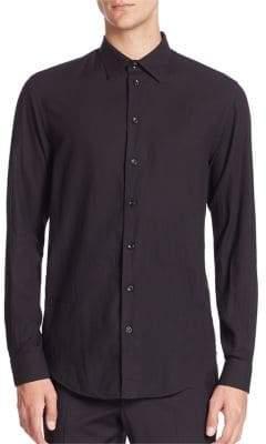 Armani Collezioni Textured Button-Down Shirt