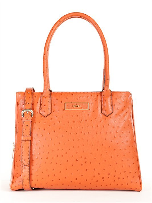 DKNY Ostrich Leather Large Work Shopper