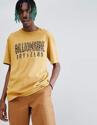 Billionaire Boys Club Leopard Print Arch Logo T-Shirt In Gold