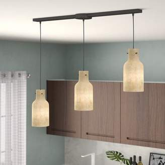 Brayden Studio Burkhead Linear Bar 3-Light Cluster Pendant Brayden Studio