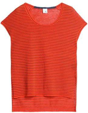 Iris & Ink Woman Striped Linen-blend Top Tomato Red Size S IRIS & INK Cost For Sale Sunshine The Cheapest For Sale Wiki For Sale 100% Guaranteed Sale Online RWdGexSLR