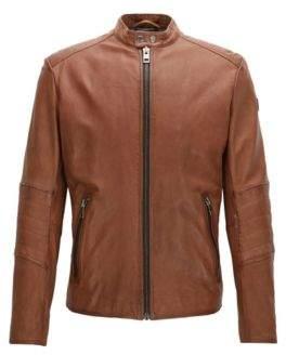 BOSS ORANGE Hugo Boss Sheepskin Biker Jacket Jeeper 44R Open brown