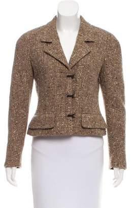 Chanel Metallic-Accented Wool Jacket