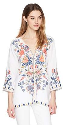 Johnny Was JWLA By Women's Tiwa Peasant Blouse