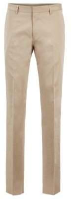 BOSS Hugo Slim-fit chinos in satin-effect stretch cotton 30R Light Beige