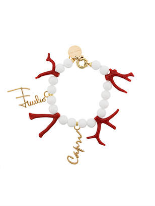 Emilio Pucci beaded charm bracelet