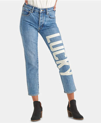 Lucky Brand Lucky-Applique Cropped Jeans