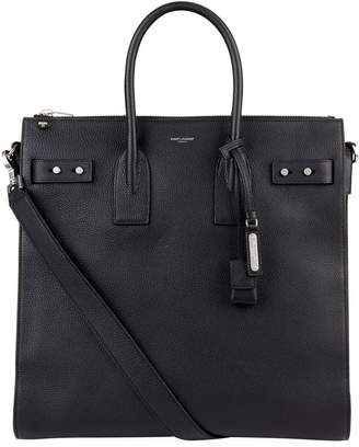 Saint Laurent Leather Top Handle Tote Bag