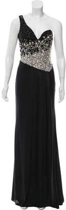 Terani Couture Embellished Sleeveless Evening Dress w/ Tags