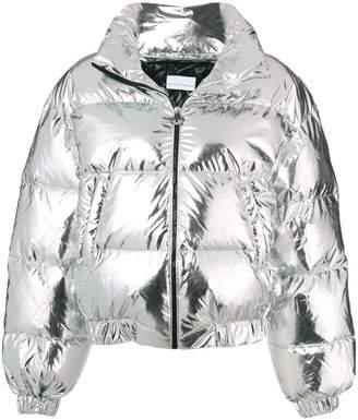 Chiara Ferragni applique logo puffer jacket