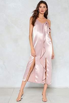 Nasty Gal Let Your Love Flow Satin Slip Dress
