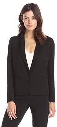Lark & Ro Women's Single Button Short Blazer