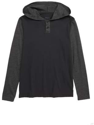 RVCA Pick Up Hooded Henley T-Shirt
