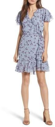 WAYF Madlyn Mini Ruffle Wrap Dress