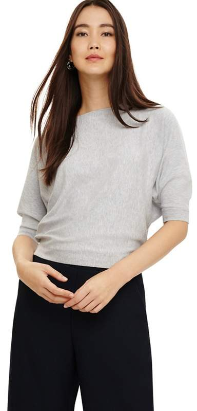 Grey Cristine Batwing Knit Jumper Top