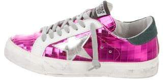 Golden Goose May Metallic Low-Top Sneakers