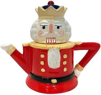 One Kings Lane Vintage Ceramic Nutcracker Teapot - Uptown Found