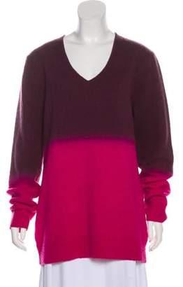 Dries Van Noten Ombré V-Neck Sweater Pink Ombré V-Neck Sweater