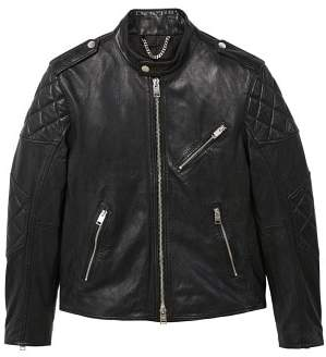 Mango man MANGO MAN Leather biker jacket