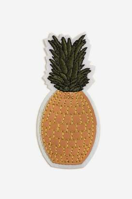 Topshop **Pineapple Iron-On Badge