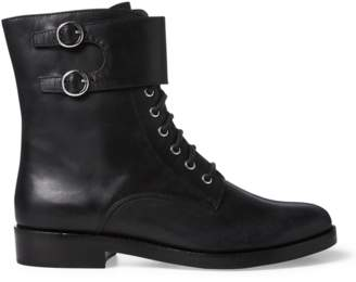 Polo Ralph Lauren Saige Leather Combat Boot