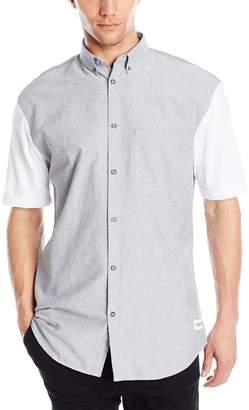Zanerobe Men's 7 Foot Tall Short Sleeve Button Down Shirt
