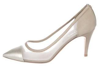 Chanel Mesh Pointed-Toe Pumps