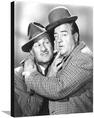 Art.com Abbott & Costello in Suit hugging Stretched Canvas Print By Movie Star News - 61x76 cm