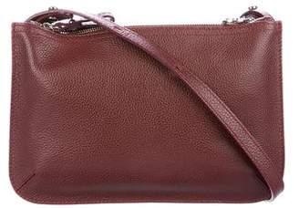Longchamp Textured Leather Zip Crossbody Bag