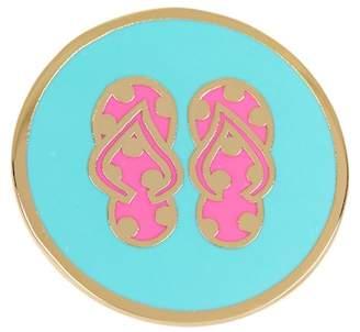 Ariella Collection Double Flip Flop Enamel Ring