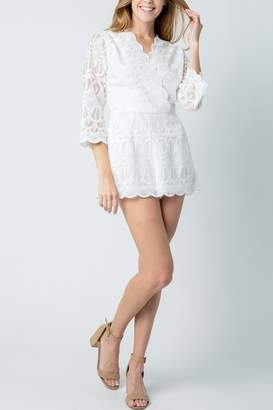 Baevely White Lace Romper
