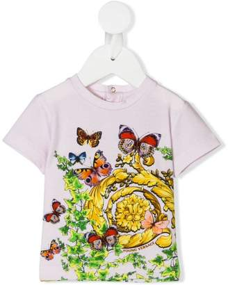 Versace butterfly graphic print T-Shirt