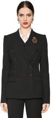 Dolce & Gabbana Double Breasted Stretch Natté Jacket