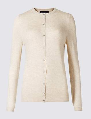 Marks and Spencer Ribbed Round Neck Cardigan