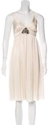 Lanvin Pleated Midi Dress Pleated Midi Dress