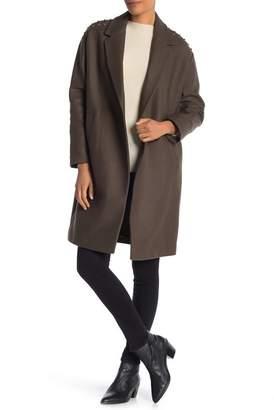 AllSaints Ada Lace-Up Wool Blend Coat