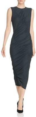 Narciso Rodriguez Ruched Jersey Midi Dress