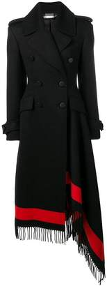 Alexander McQueen double breasted draped coat