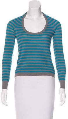 Hussein Chalayan Striped Scoop Neck Sweater