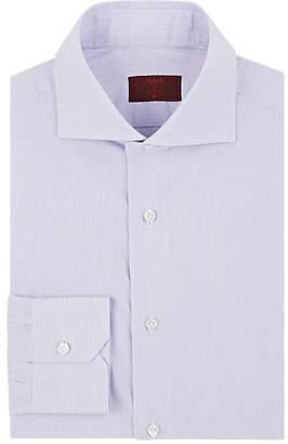 Isaia Men's Hairline-Striped Cotton Poplin Shirt - Purple