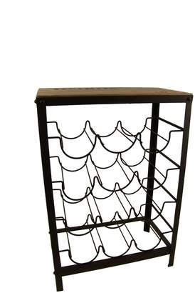 Firefly Home Collection Iron Wine Rack Table, 18 by 10 by 26-Inch