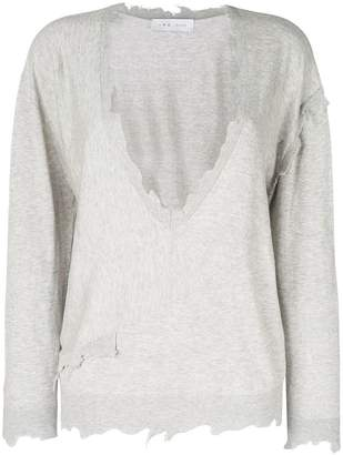 IRO distressed V-neck sweater