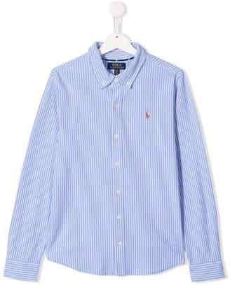 Ralph Lauren Kids TEEN striped Oxford shirt
