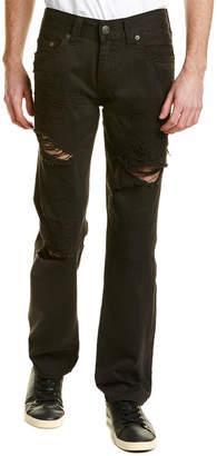 True Religion Geno Mended Black Straight Leg