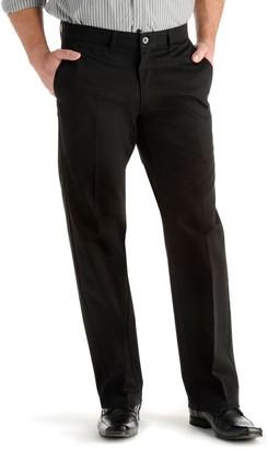 Lee Men's Custom Fit Straight-Fit Flat-Front Pants