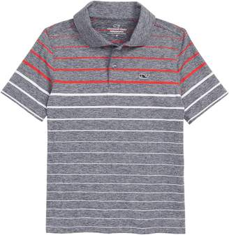 Vineyard Vines Sankaty Engineered Stripe Performance Polo