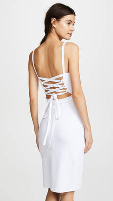 Susana Monaco Lizabeth Back Lace Up Slit Dress