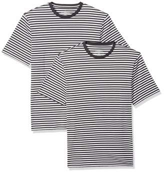 Mens Black And White Striped Top ShopStyle UK