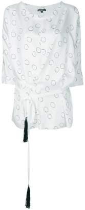 Ann Demeulemeester circle print asymmetrical blouse